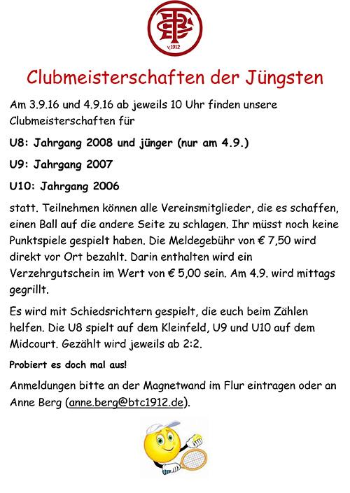 Clubmeisterschaften der Juengsten2016